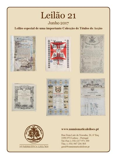 "Auction nº 21 of the Auction House ""Numismática Leilões"""